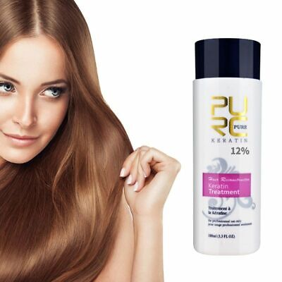 12% Brazilian Keratin Repair Damage Frizzy Curly Hair Straightening Shampoo