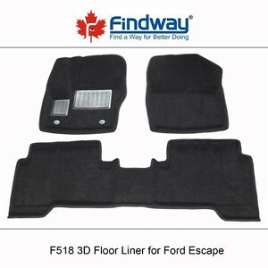 2013-2018 Ford Escape All weather 3D Car Floor Liners/Mats