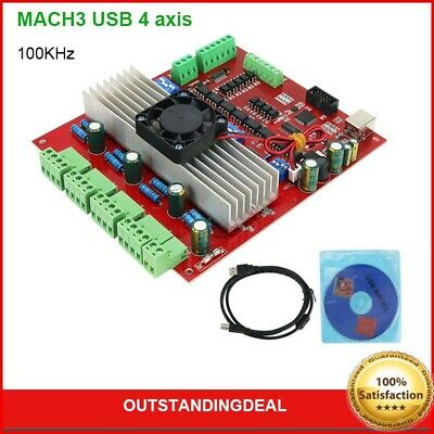 Mach3 Usb 4 Axis Breakout Board Cnc Interface Motion Controller Driver Board