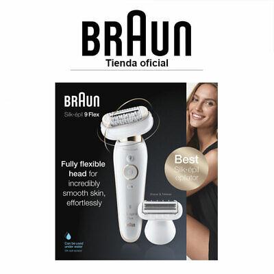 Braun Silk-épil 9002 Flex Wet & Dry Depiladora Eléctrica Cabezal flexible Wet...