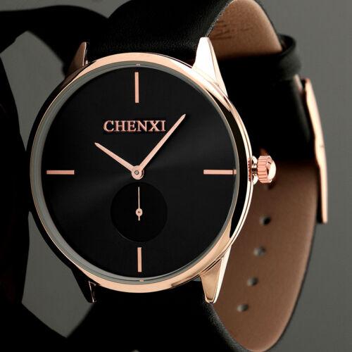 $24.95 - Fashion Men's Luxury Stainless Steel Wrist Watch Analog Black Sport Quartz Gold