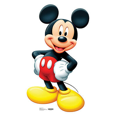 MICKEY MOUSE Disney Classic Cartoon CARDBOARD CUTOUT Standee Standup Poster F/S - Mickey Mouse Cardboard Cutout