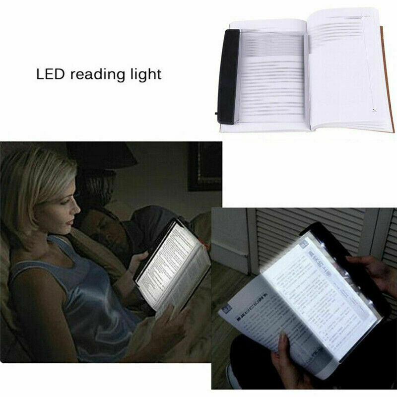 Portable LED Read Panel Light Book Reading Lamp Night Vision For Travel US NEW