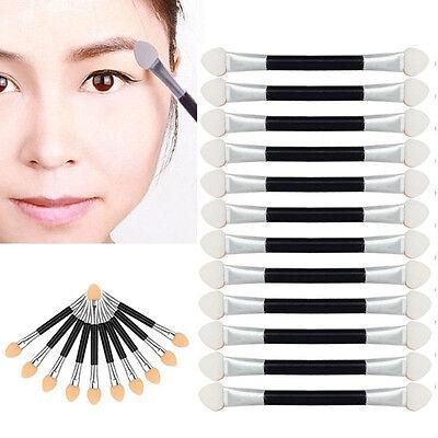 12Pcs Makeup Double-end Eye Shadow Eyeliner Brush Sponge Applicator Tool