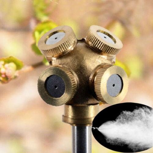 4 Hole Brass Spray Misting Nozzle Garden ...