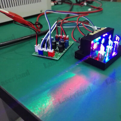 300mw Rgb Red Green Blue Combined Mixed White Laser Module Mini Stage Lighting