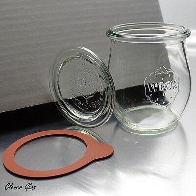 l Mini Tulpenform mit Deckel & Ringen - Kostenloser Versand  (Mini-gläser Mit Deckel)