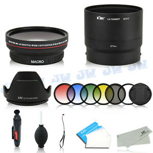 72mm wide angle lens & filters & adapter for fujifilm