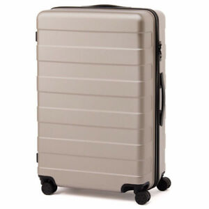 MUJI LARGE 87L LUGGAGE SUITCASE in BEIGE