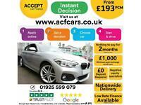 2015 SILVER BMW 118i 1.6 SPORT PETROL MANUAL 3DR HATCH CAR FINANCE FR £193 PCM