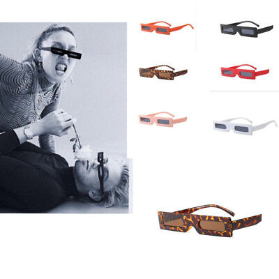 Small Rectangle Sunglasses Men Women Vintage Retro Black Red Square Sun Glasses