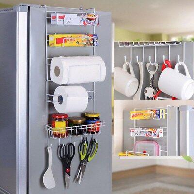 Kitchen Fridge Side Shelf Sidewall Multipurpose Crack Storage Rack Multi-layer 1 Side Shelf