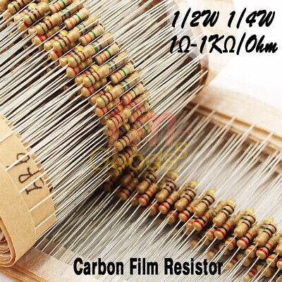 100pcs 14w 12w Watt 10k Ohm 5 47k Carbon Film Resistor 0.25w 0.5w 100000r