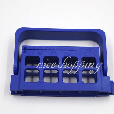 Autoclave 16 Holes Endo Files Holder Stand Endodontic Instrument Ruler Blue