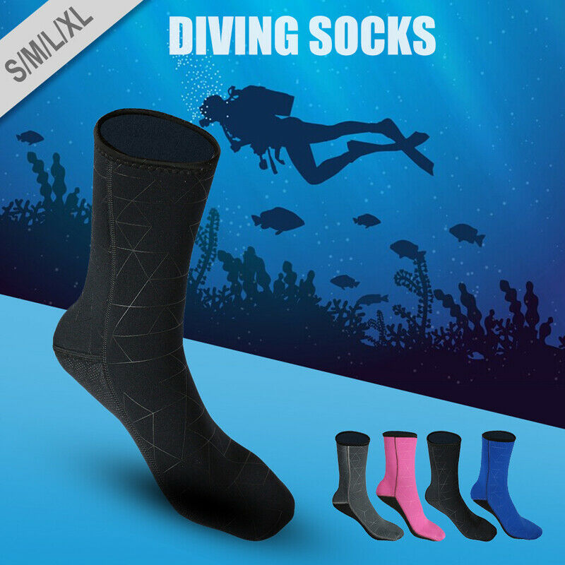 3mm Adult Unisex Neoprene Diving Scuba Surfing Snorkeling Swimming Socks Boots