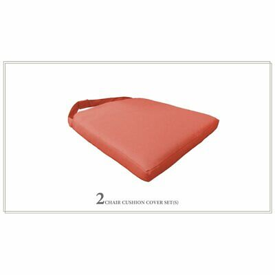 TK Classics 2 Cushions for Dining Chairs in Tangerine