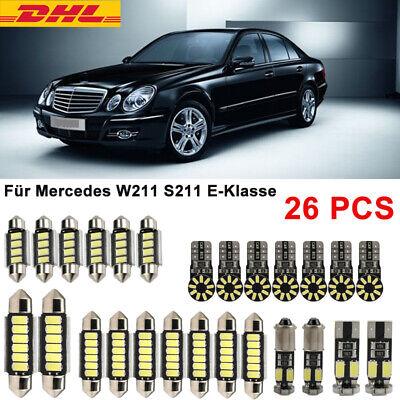 26X SMD LED Innenraumbeleuchtung CANBUS Für Mercedes W211 S211 E-Klasse Weiß DE