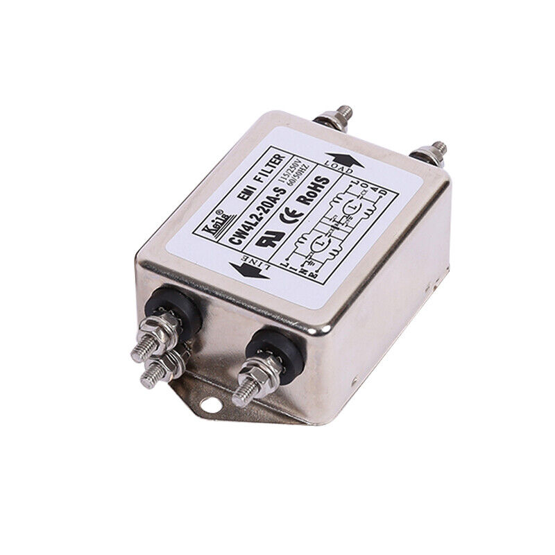 Single-phase 220V power filter terminal block wiring 2-stage CW4L2-10A 20A 30A S