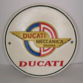Ducati - Heavy Cast Iron Sign