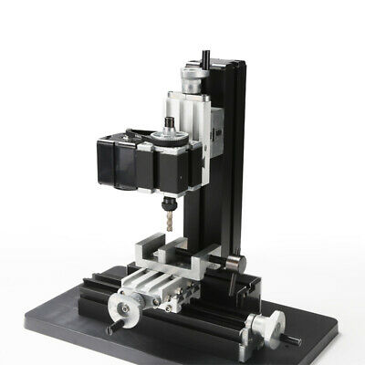 Metal Mini Milling Machine Diy Woodworking Tools Student Modelmaking 100240v