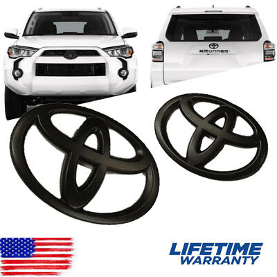 Matte Black Front and Rear Badge Emblem Nameplate for Toyota 4RUNNER Replacement