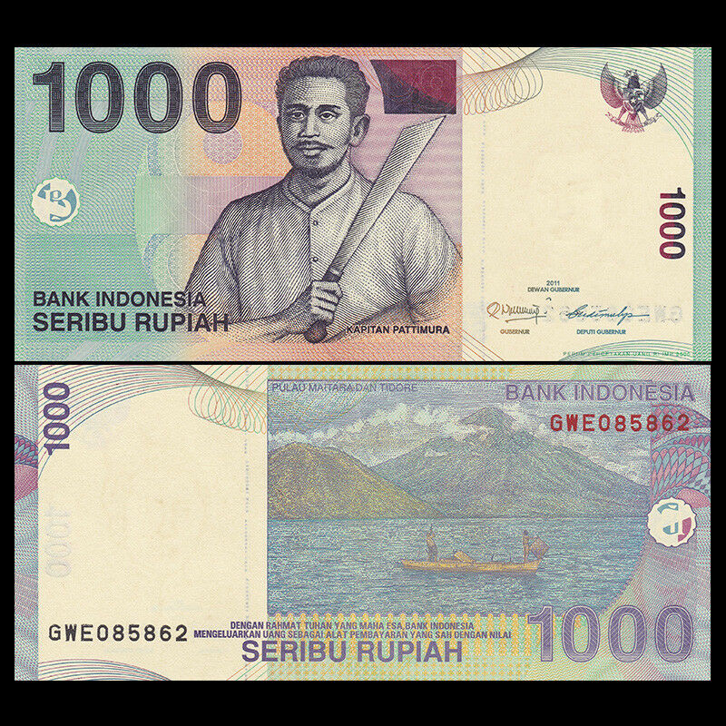 10 NOTES INDONESIA 1,000 1000 RUPIAH P 141 UNC