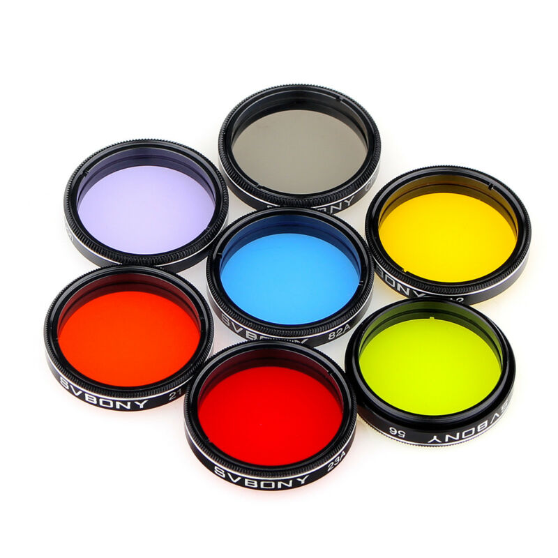 SVBONY 1.25in Eyepiece Filters Set Colored Planetary &Moon Telescope Filters Kit