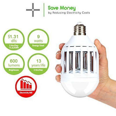 (LED Bulb Anti Pest Reject Mosquito Insect Mouse Killer Repeller lamp US)