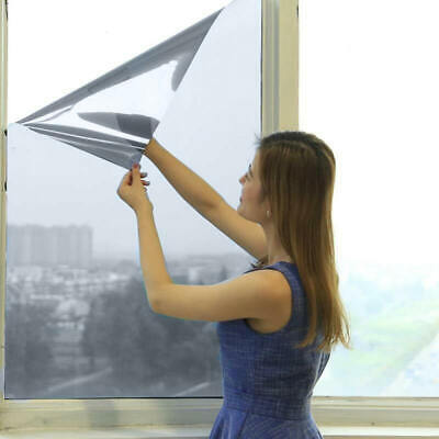 Glass Self Adhesive Film Reflective Mirror Window UV Sun Protection Spy Foil DIY