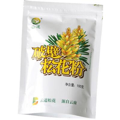 100g Wild Harvested Shell-broken Pine Pollen Powder 99% Cracked-100g/bag 破壁松花粉