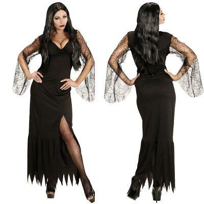 Dark Vampirella Gothic Lady Schwarze Witwe - Damen Kostüm Kleid Gr. XS, S, M, L ()