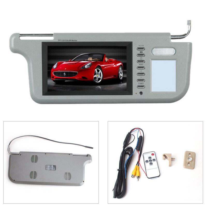 "7"" Car Sunvisor Rear View Mirror Screen Lcd Monitor DVD/VCD/GPS/TV Sun Visor Set"