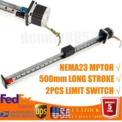 Precision Linear Stage Actuator W Nema23 Stepper Motor Electric Cnc Slide Stroke