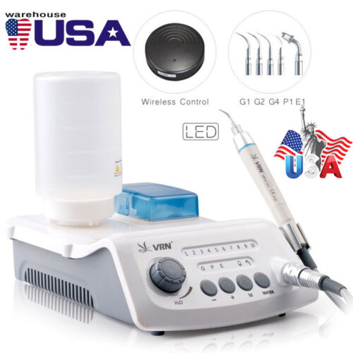 VRN-A8 LED WIRELESS CONTROL Ultrasonic Scaler With LED Detachable Handpiece USA
