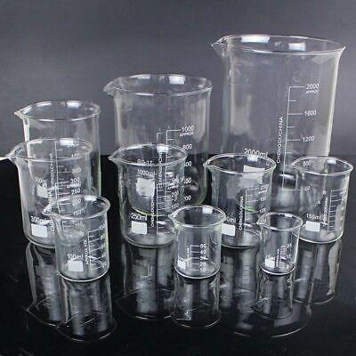 5pcsset Borosilicate Glass Beaker Chemistry Experiment Labware School Equipment