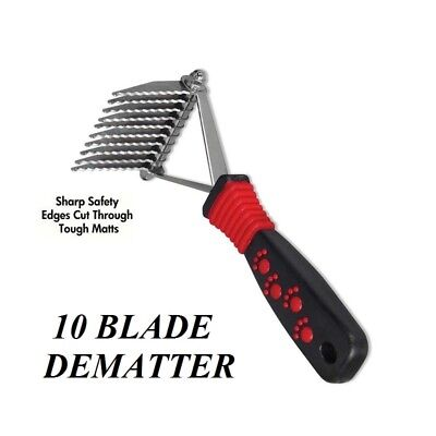 Grooming DOG CAT PET Mat Breaker Matbreaker Matt Dematting Razor RAKE 10 blade