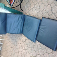 IKEA Pioang leather chair black.blue cover and foot stool cover