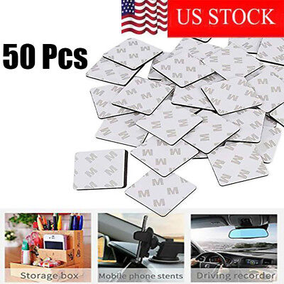Double Stick Foam Tape (50Pcs Super Stick Double Sided White Foam Tape Pads Mounting Rectangle)