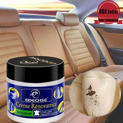 Leather Repair Filler Cream Kit Restore Car Seat Sofa Scratch Scuffs Hole Rip US