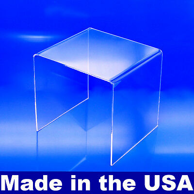 Acrylic Display Riser 8 X 8 X 8 - Made In Usa Acrylic Risers