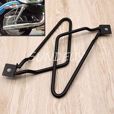 Universal Saddle Bag Support Bar Mount Bracket Chrome For Harley Sportster 883