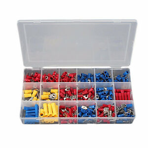 300Pcs Assorted Crimp Terminal Set Insulated Electrical Wiring C