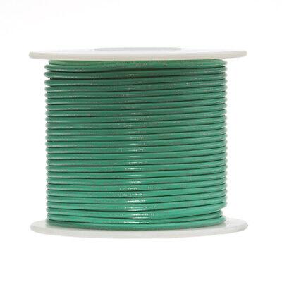 30 Awg Gauge Stranded Hook Up Wire Green 250 Ft 0.0100 Ptfe 600 Volts