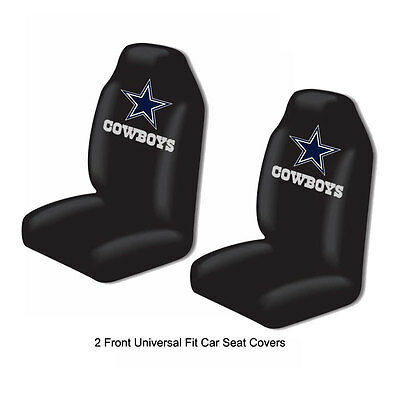FedEx Express Shipping - NFL Dallas Cowboys Car Truck 2 Front Seat Covers Set