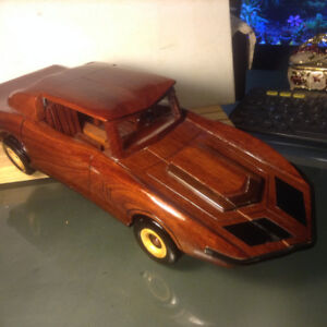 Old Hand Made Wood Model Car