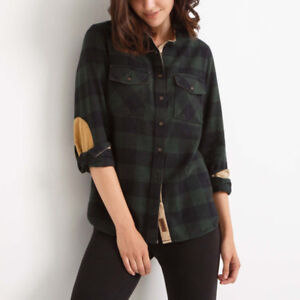 Roots Plaid Flannel Shirt - Size Small