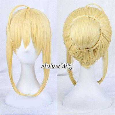 Anime für Fate Stay Night saber 45cm Brötchen - Blonde Perücken Für Halloween