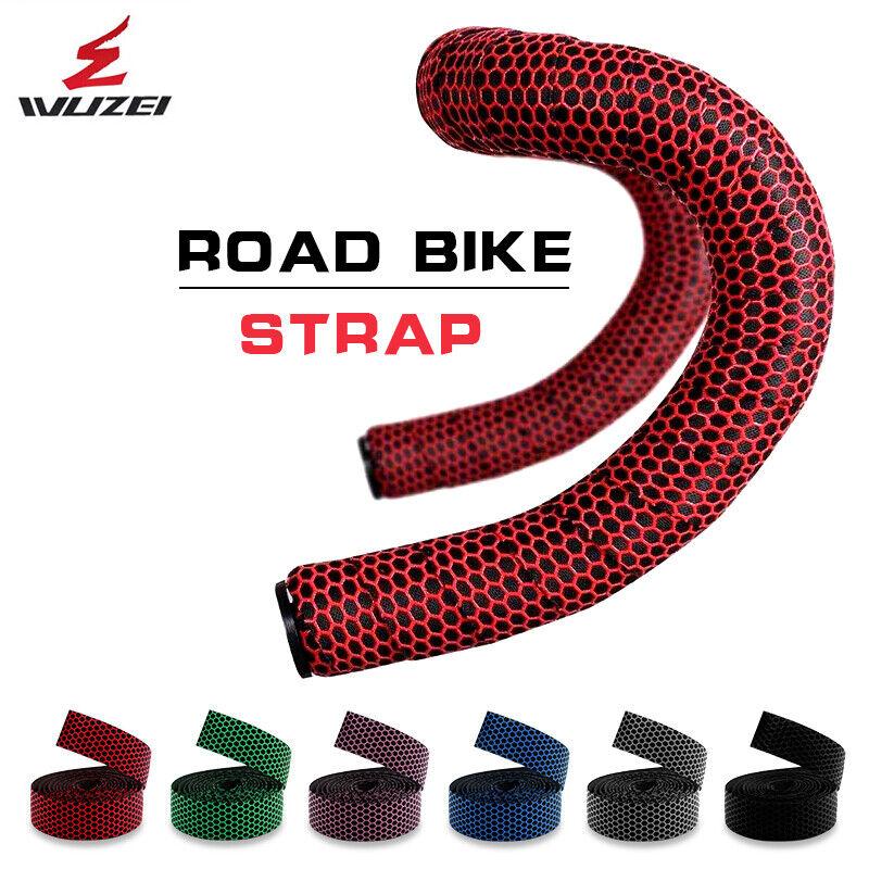 Road Bike Handlebar Tape anti-slip silica gel eva grip wrap with end lock