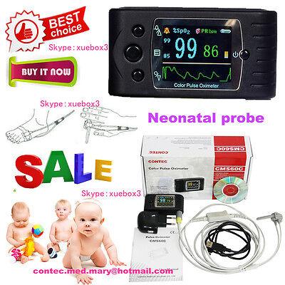 Contec Neonatal Infant Kids Born Pulse Oximeter Spo2 Monitor Sleep Recorder Fda