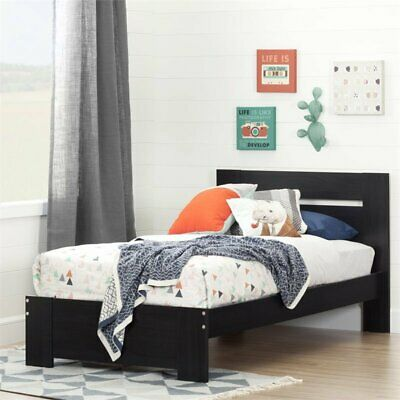 South Shore 10261 Reevo Twin Bed Set 39in Black Onyx NEW